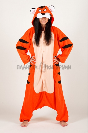 Пижама-кигуруми Бенгальский тигр для взрослых