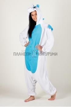 Пижама-кигуруми Единорог голубой для взрослых