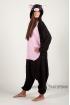 Пижама-кигуруми Чёрная свинка для взрослых