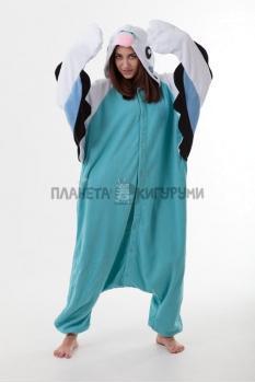 Пижама-кигуруми Попугай голубой для взрослых