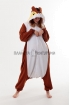 Пижама-кигуруми Белка коричневая для взрослых