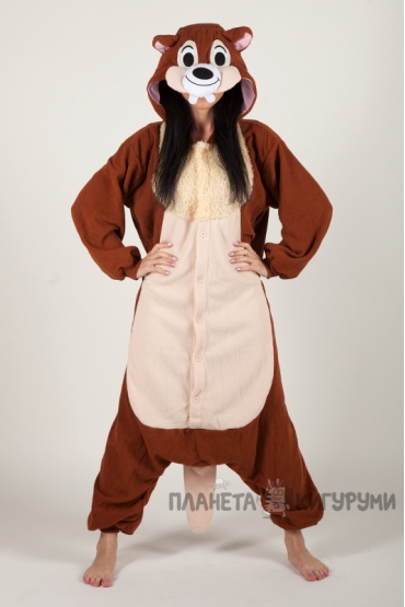 Пижама-кигуруми Чип Бурундук для взрослых