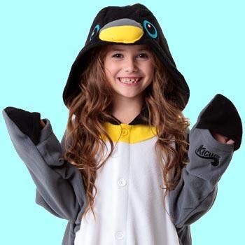 Кигуруми пингвин из флиса для детей