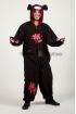 Пижама-кигуруми Мрачный медведь чёрный для взрослых