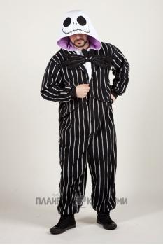 Пижама-кигуруми Джек Скеллингтон для взрослых