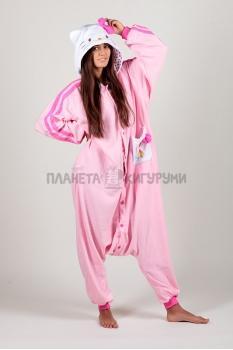 Пижама-кигуруми Хелло Китти розовая для взрослых