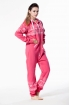 Комбинезон Nordic Way розовый Print для взрослых унисекс