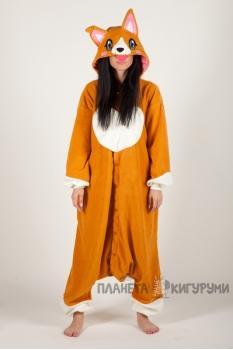 Пижама-кигуруми Собачка Корги для взрослых