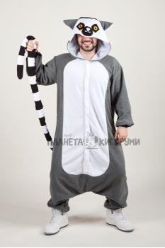 Пижама-кигуруми Лемур для взрослых