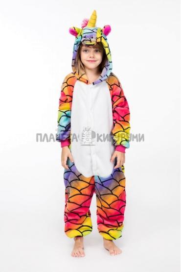 Кигуруми Единорог русалка из велсофта для детей