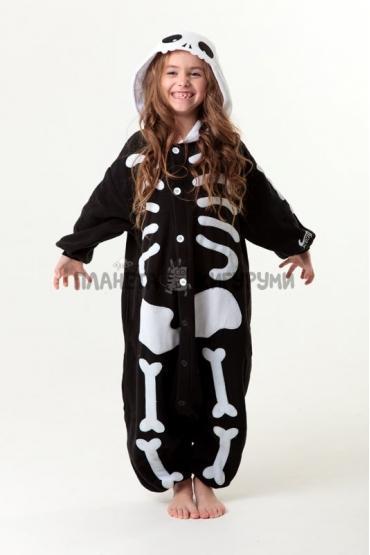 Кигуруми Скелет из флиса для детей