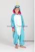 Кигуруми Единорог голубой из флиса для детей