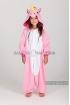 Кигуруми Радужный единорог розовый из флиса для детей