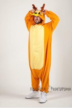 Пижама-кигуруми Северный олень для взрослых