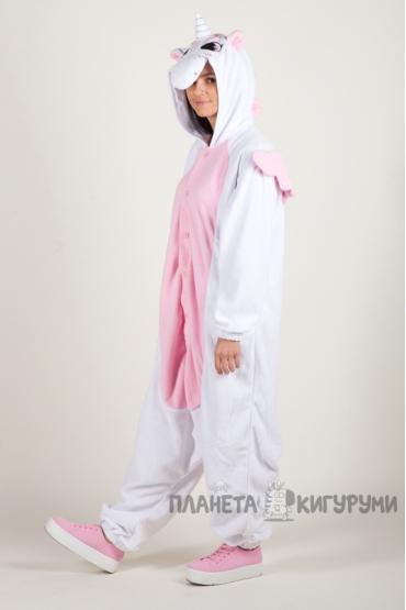 Пижама-кигуруми Единорог розовый для взрослых