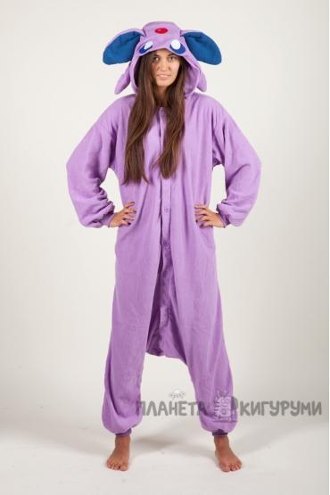 Пижама-кигуруми Покемон Эспеон для взрослых