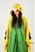 Пижама-кигуруми Зеленый Попугай для взрослых