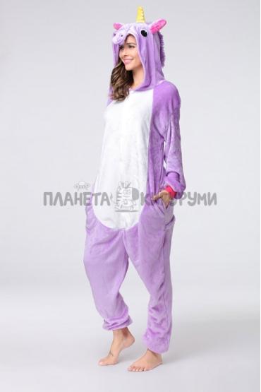 Кигуруми Единорог фиолетовый (велсофт)