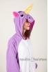 Пижама-кигуруми Радужный единорог фиолетовый для взрослых