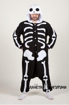 Пижама-кигуруми Скелет для взрослых