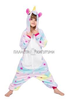 Кигуруми Единорог звездный из велсофта для детей