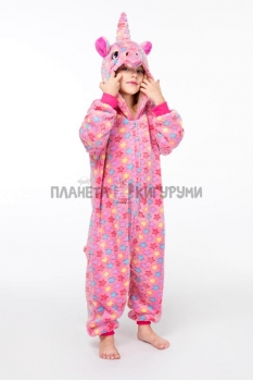 Кигуруми Звездный Единорог розовый детский