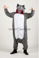 Пижама-кигуруми Серый волк для взрослых