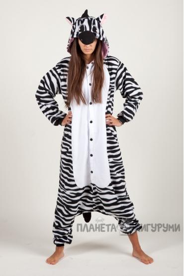 Пижама-кигуруми Зебра для взрослых