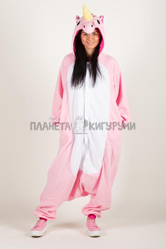 Купить Пижаму-кигуруми Единорог розовый в интернет-магазине ... 1086c9b11cc79