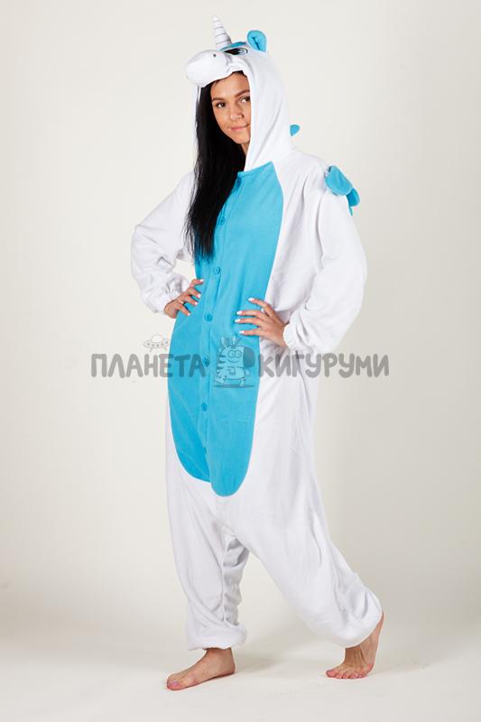 Кигуруми Пегас Единорог голубой - купить пижаму голубой Пегас ... 64ef56a1a7e14