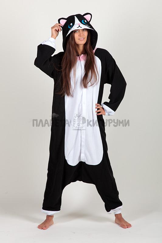 Кигуруми Чёрная кошка - купить пижаму Чёрная кошка в Москве ... 4739affe3b10e