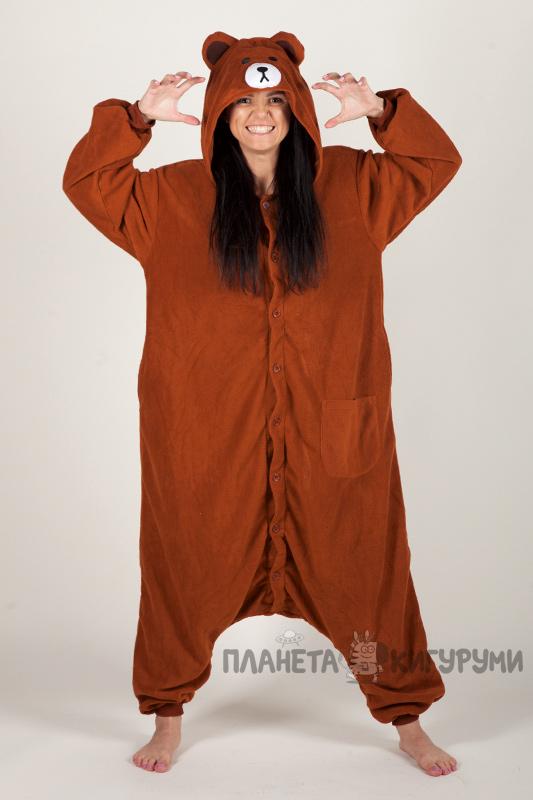 Кигуруми Медведь Браун - Купить пижаму Медведь Браун в Москве 731d0be769c56