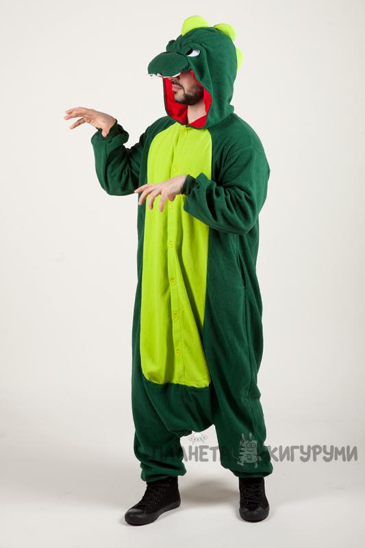 Кигуруми Динозавр - купить пижаму зеленый Динозавр в интернет ... cab0887e43324