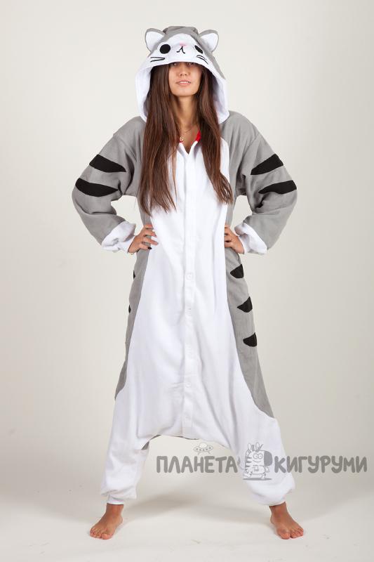 Купить в Москве пижаму кигуруми для взрослых Серый кот 271f0b7d4f473