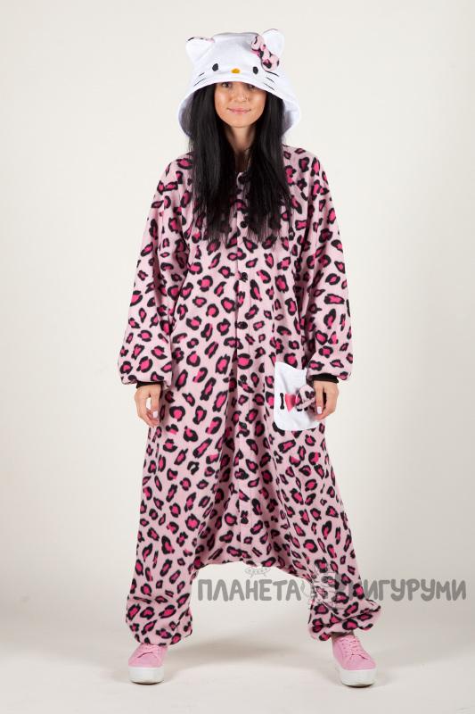 Пижаму кигуруми Хелло Китти леопард розовая купить в Москве ... 29975250ef297