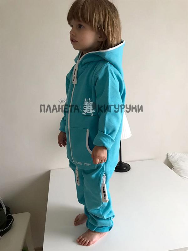 Кигуруми Салли. Комбинезон Nordic Way Kids Classic аквамарин a018ca9dcec1f