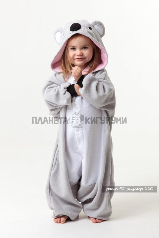 Кигуруми Коала для детей - купить детскую пижаму Коала в Москве ... bfabbd3d022bc