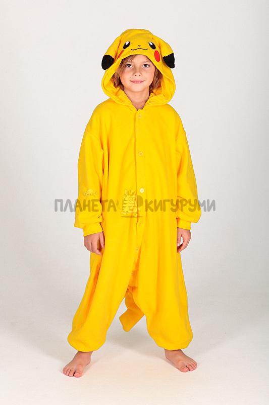 5caf95aa96d9 Кигуруми Пикачу для детей - купить детскую пижаму Пикачу в Москве