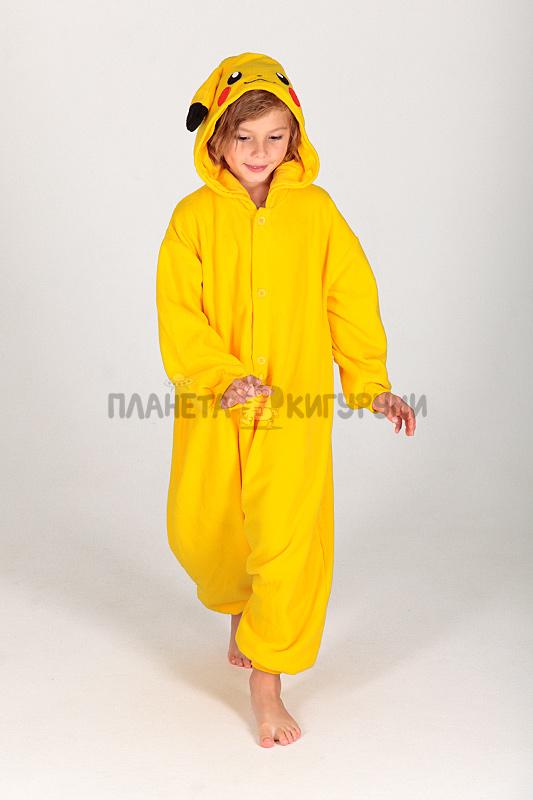 Кигуруми Пикачу для детей - купить детскую пижаму Пикачу в Москве 83521760a453b