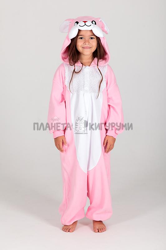 Кигуруми Заяц розовый для детей - купить детскую пижаму Заяц в ... 9565388625b2e