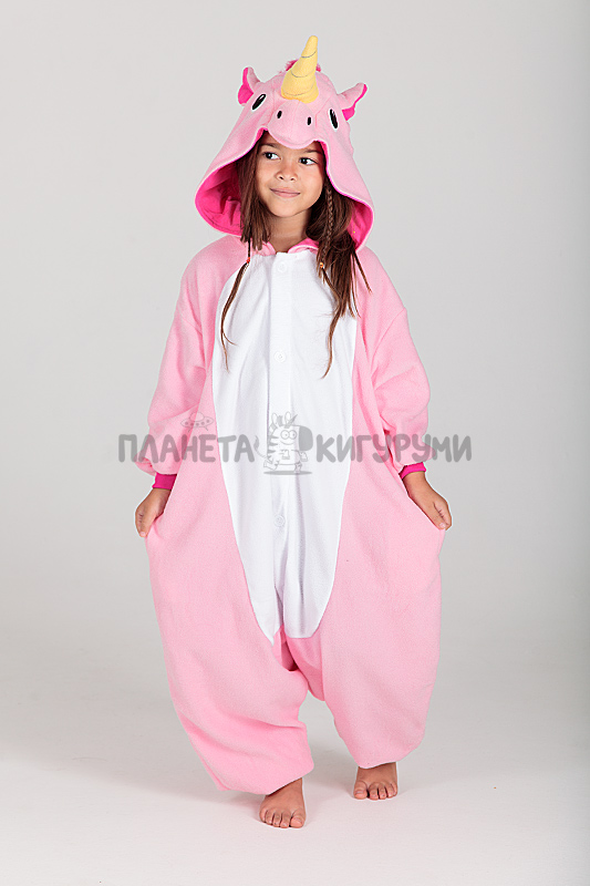 Пижама-кигуруми Единорог розовый детская 3b7c084829b45