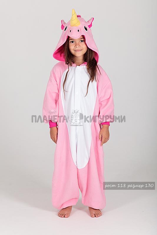 Кигуруми Единорог розовый для детей - купить детскую пижаму Единорог ... 3c5c79ba397da