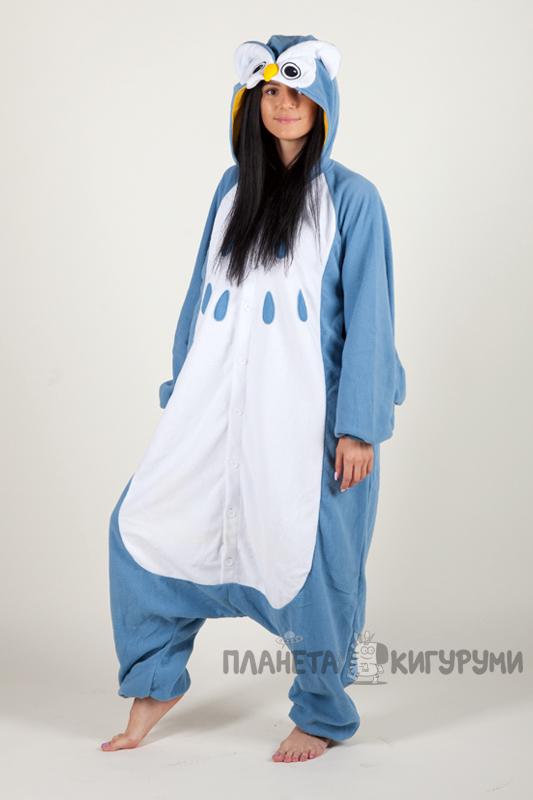 Кигуруми Сова - Купить в Москве пижаму голубая Сова. Интернет ... 375ba177ce5e2