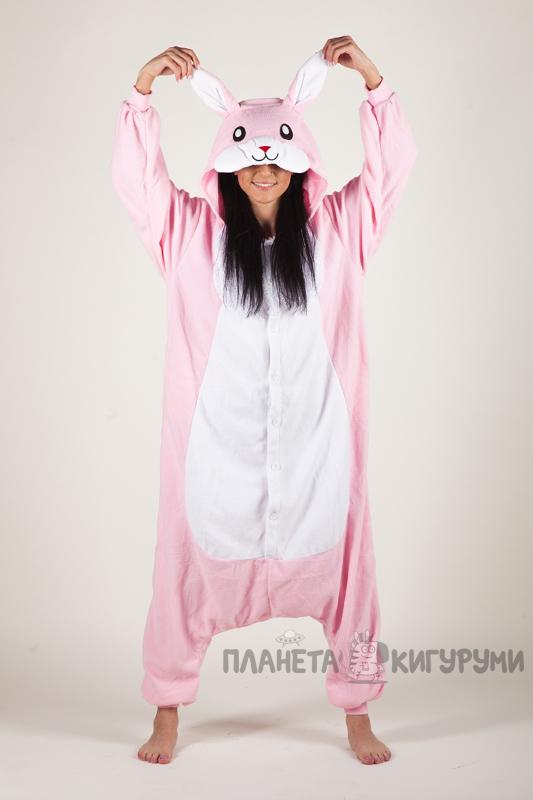 Кигуруми Заяц розовый - заказать пижаму Заяц в интернет магазине ... 31e3e87e6f068