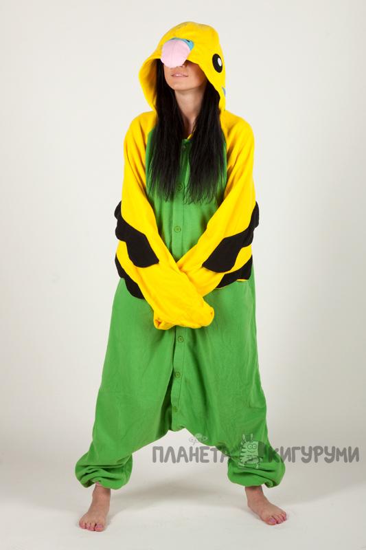 Пижаму кигуруми Зеленый Попугай купить в Москве в интернет-магазине ... aa7a823563cd3