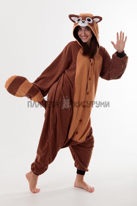 Кигуруми Енот - Купить в Москве пижаму Енот с доставкой в Интернет ... 442c780ddc066