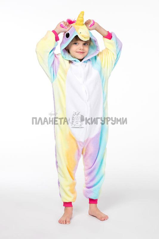 Пижама-кигуруми Единорог радужный - купить детский кигуруми Единорог ... 3d52e8a635664