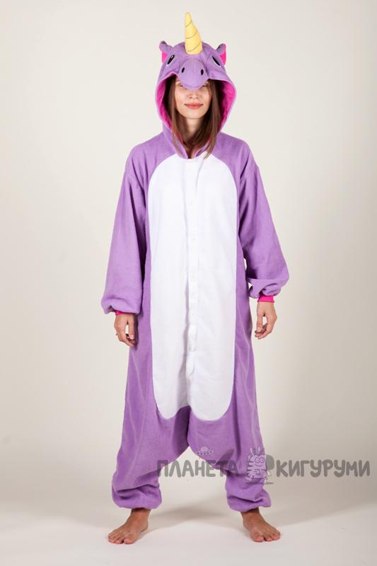 Купить Пижаму-кигуруми Единорог фиолетовый в интернет-магазине ... dcb64a146e527