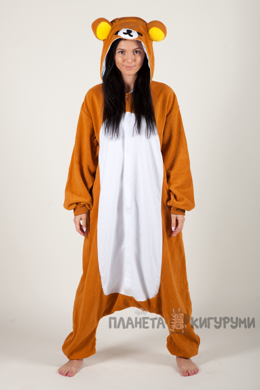 Кигуруми Рилаккума - купить пижаму Медвежонок Рилаккума в интернет ... 60bf4c584f27f