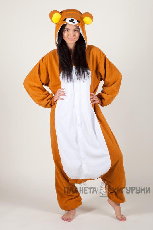 Кигуруми Рилаккума - купить пижаму Медвежонок Рилаккума в интернет ... 1bcfc41c3b1c9